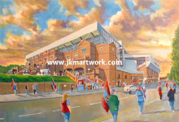 villa park going to the match print